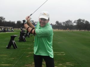 the wing clip makes a straight back swing