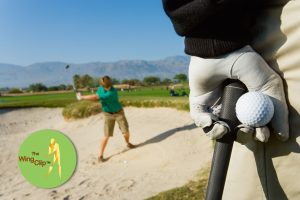 watching swing from sand trap