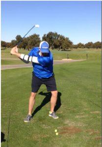 golf swing training for leading arm
